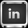LinkedIn 3D B&W